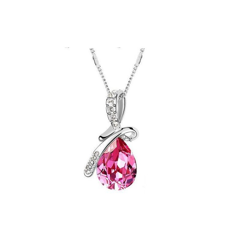 swarovski pink necklace
